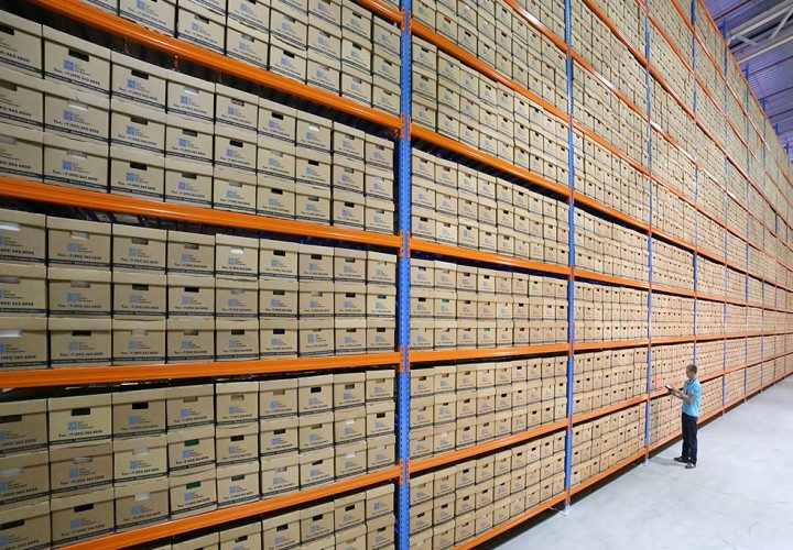 Archival document storage services