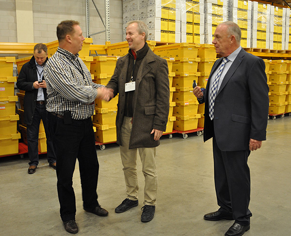 Group Marketing Director Conrad Gibbons (middle) meets with other document storage specialists