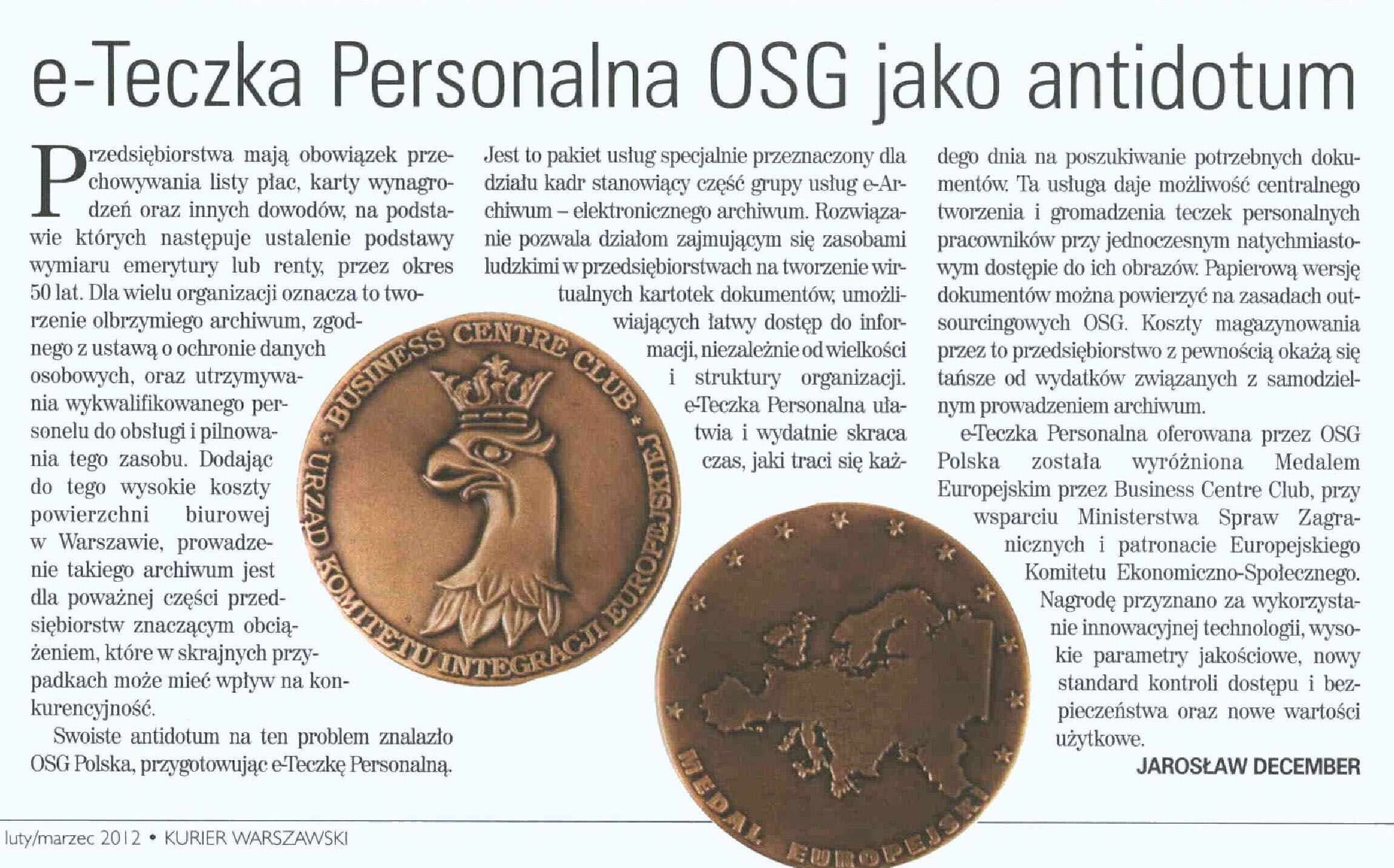 OSG Polska's e-Perosnnel File offers a unique solution for the many challenges faced by modern companies